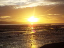 Zmierzch nad Irlandzkim morzem Fotografia Royalty Free