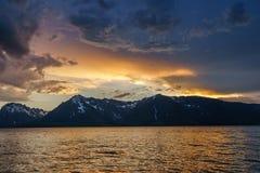 Zmierzch nad jeziorem Fotografia Royalty Free