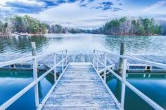 Zmierzch nad jeziornym wylie Obrazy Royalty Free