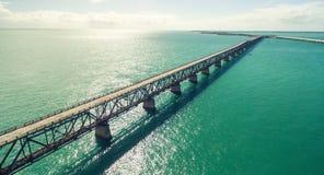 Zmierzch nad klucza mostem, Floryda Fotografia Royalty Free