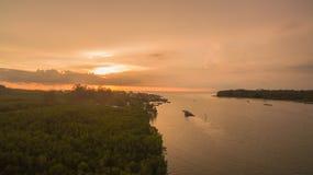 zmierzch nad Lanta wyspa fotografia royalty free