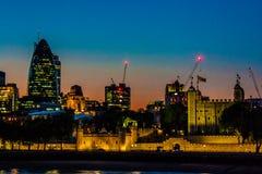Zmierzch nad miastem London Obrazy Stock