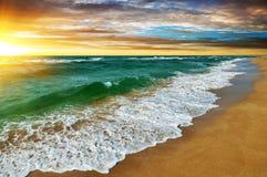 Zmierzch nad morzem Obrazy Royalty Free