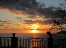 Zmierzch nad morzem Sanremo Obraz Royalty Free