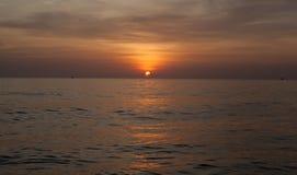 Zmierzch nad morzem w Wietnam Fotografia Stock
