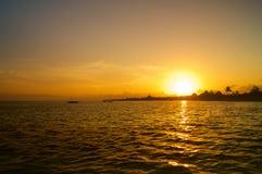 Zmierzch nad plażą w Afryka Kenja Fotografia Royalty Free