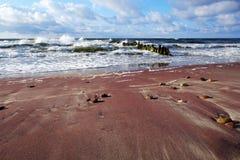Zmierzch nad Polskim Bałtyckim wybrzeżem, Kolobrzeg obrazy royalty free