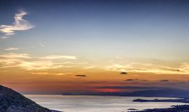 Zmierzch nad Puerto De Mazarron, Hiszpania obrazy royalty free