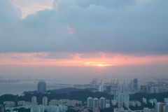 Zmierzch nad Singapur Obraz Royalty Free