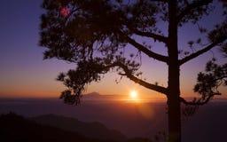 Zmierzch nad Teide zdjęcie royalty free