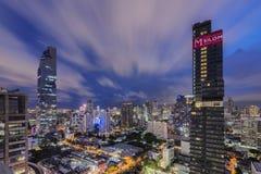 Zmierzch nad uderzeniem Rak, Bangkok, Tajlandia obrazy royalty free
