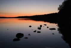 Zmierzch nad Wielkimi jeziorami Zdjęcia Royalty Free
