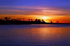 Zmierzch, ocean plaża, San Diego, Kalifornia fotografia royalty free