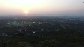 Zmierzch od Mandalay wzgórza zdjęcie wideo