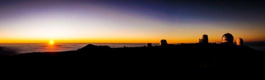 Zmierzch od Mauna Kea Hawaje Obrazy Stock