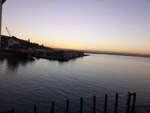 Zmierzch od Napier portu fotografia royalty free