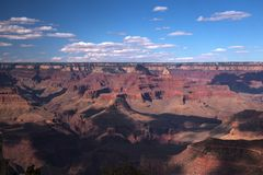 Zmierzch Od punktu widzenia w Uroczystego jaru parku narodowym, Arizona Zdjęcie Stock