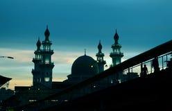 Zmierzch oprócz Islamskiego meczetu Obraz Royalty Free