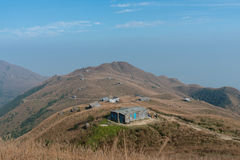 Zmierzch Paek z kamienia domem w Hong Kong obraz stock