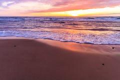 Zmierzch plażą Fotografia Stock
