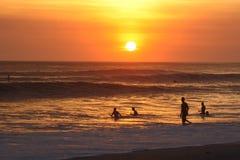 Zmierzch plaża Obrazy Stock