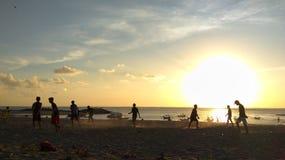Zmierzch plażowa natura Bali Indonesia zdjęcia stock