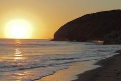 Zmierzch plaża Fotografia Royalty Free