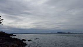Zmierzch plaża Fotografia Stock