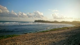 Zmierzch plaża Zdjęcia Royalty Free