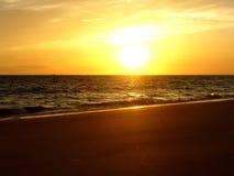 Zmierzch plaża Zdjęcie Royalty Free