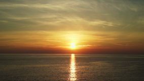 Zmierzch przy Adriatyckim morzem Chorwacja zdjęcie wideo