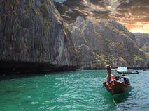 Zmierzch przy Andaman morzem Tajlandia Obrazy Royalty Free