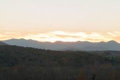 Zmierzch przy Appalachian pogórzami zdjęcie stock