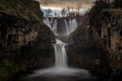Zmierzch przy Białą rzeką Spada Oregon Obrazy Royalty Free