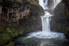 Zmierzch przy Białą rzeką Spada Oregon Fotografia Stock