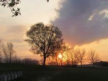Zmierzch przy Bieżącymi wiosnami Saskatchewan Zdjęcia Royalty Free