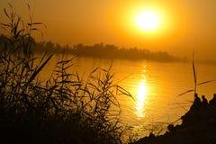 Zmierzch przy egipcjaninem Nile Obraz Royalty Free