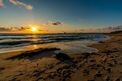 Zmierzch przy imperiał plażą, CA Zdjęcia Stock