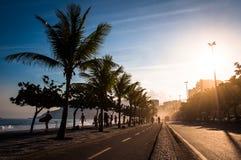 Zmierzch przy Ipanema chodniczkiem Zdjęcia Stock