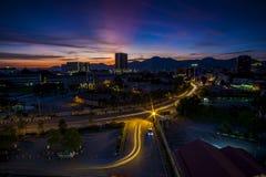 Zmierzch przy Ipoh, Perak Malezja zdjęcie royalty free