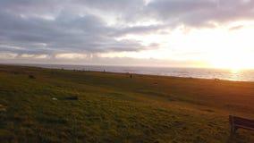 Zmierzch przy Irlandzkim morzem zdjęcie wideo
