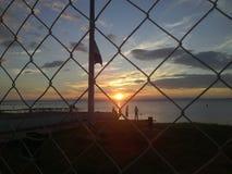 Zmierzch przy Isla Ometepe & x28; Ometep Island& x29; , Nikaragua Fotografia Stock