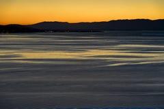Zmierzch przy Jeziornym Genewa Fotografia Stock