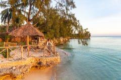 Zmierzch przy Kizimkazi Unguja Zanzibar wyspą Tanzania Afryka Wschodnia zdjęcie royalty free