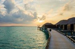 Zmierzch przy Maldives Obrazy Stock