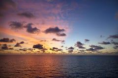 Zmierzch Przy morzem zdjęcia stock