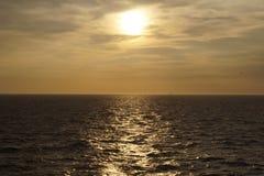 Zmierzch przy morzem Zdjęcie Stock