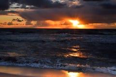 Zmierzch przy morzem Fotografia Stock