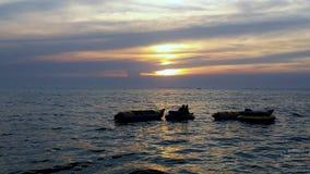 Zmierzch przy morzem Zdjęcie Royalty Free
