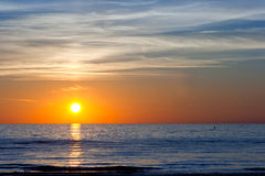 Zmierzch przy Morzem Bałtyckim Obrazy Royalty Free